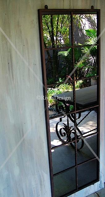 12 Square Garden Mirror Outdoor Mirrors