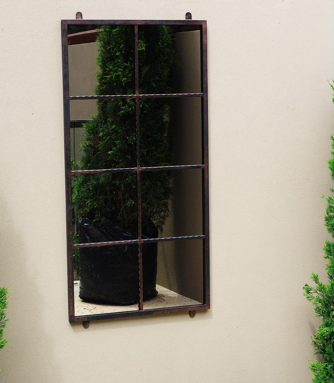 8 Squares Garden Mirror Outdoor Mirrors