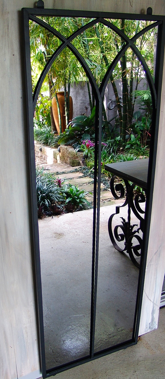 Double Arch Outdoor Mirror Large Outdoor Mirrors