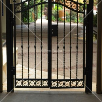 Arched iron gates