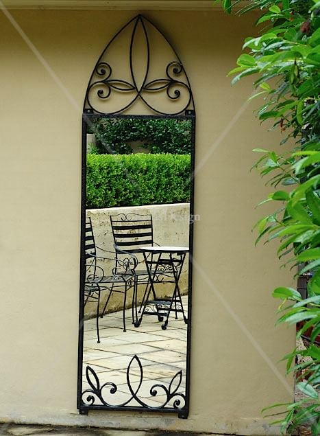Gothic Arch Iron Mirror Large Outdoor Mirrors