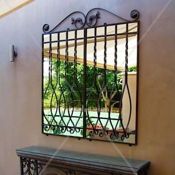Bowfront outdoor mirror