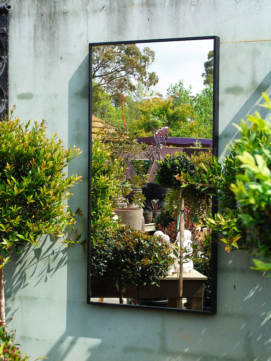 Contemporary outdoor mirror std outdoor mirrors - Use of mirrors in decorating ...