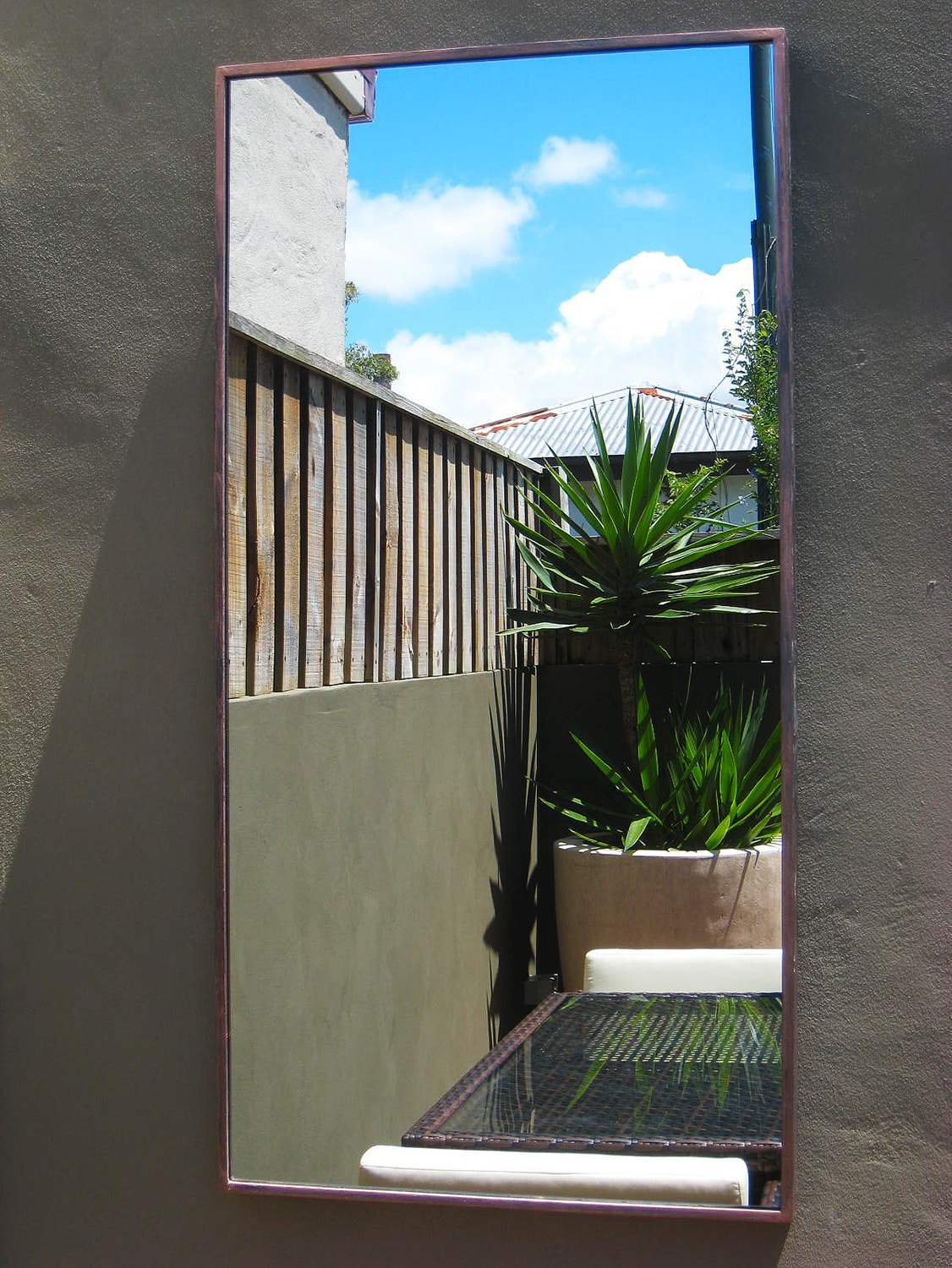 Contemporary Outdoor Mirror Std Outdoor Mirrors