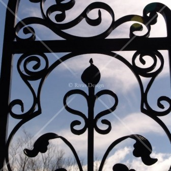 Fine Wrought Iron Gate