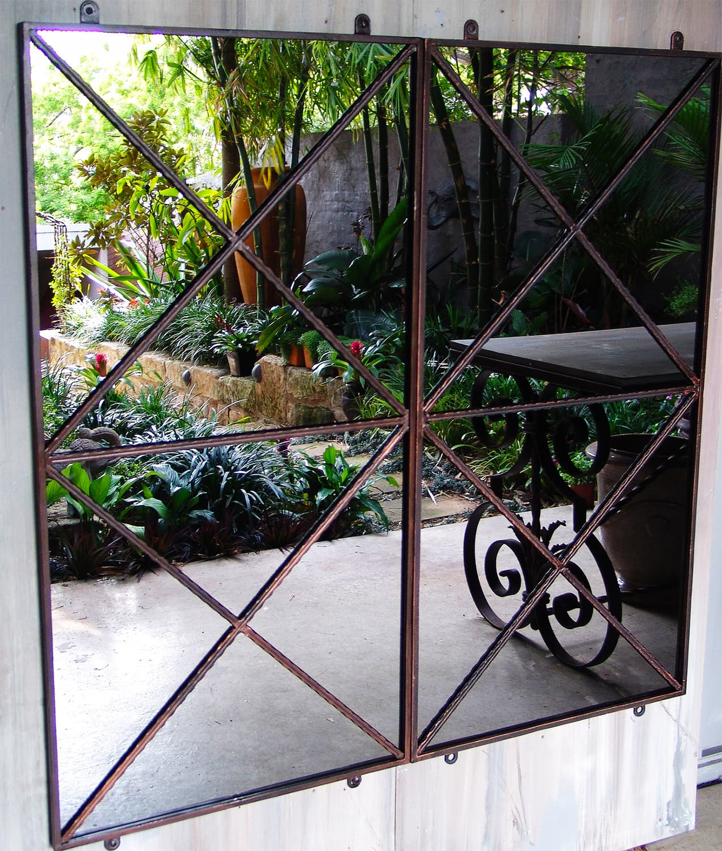 how to make a garden mirror
