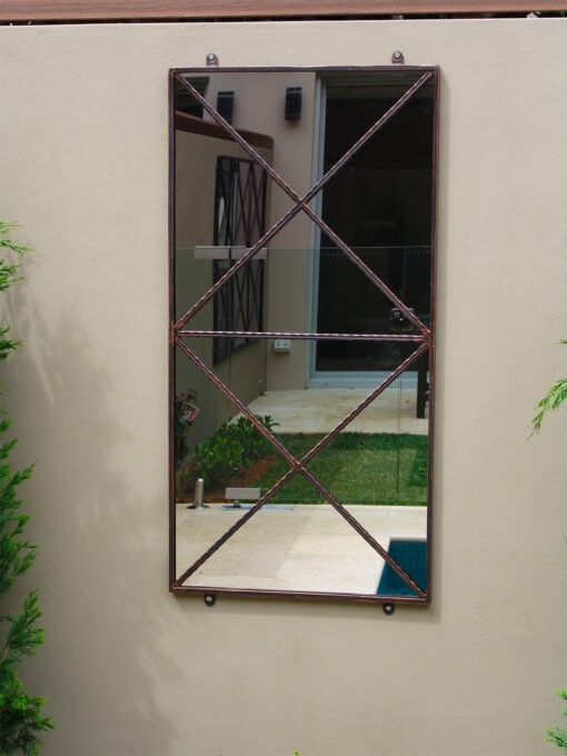 Double cross outdoor mirror