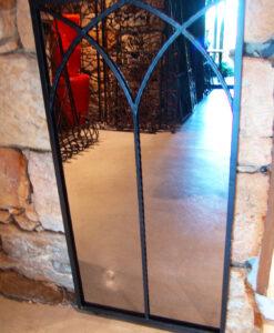 Double Arch Iron Mirror