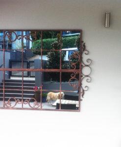 Garden mirror SG design large in copper