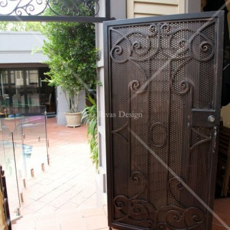 Wrought iron pool gate