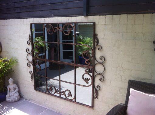 Iron Mirror Scrolled Gate design std