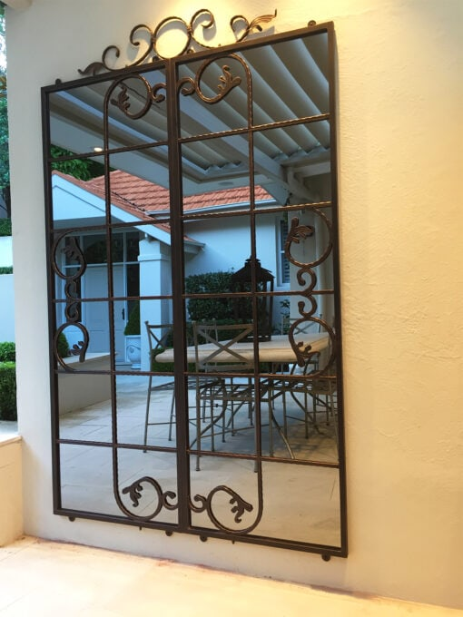 Iron mirror in courtyard Outdoor mirrors copy