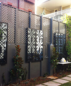 Mirror features for outdoor spaces