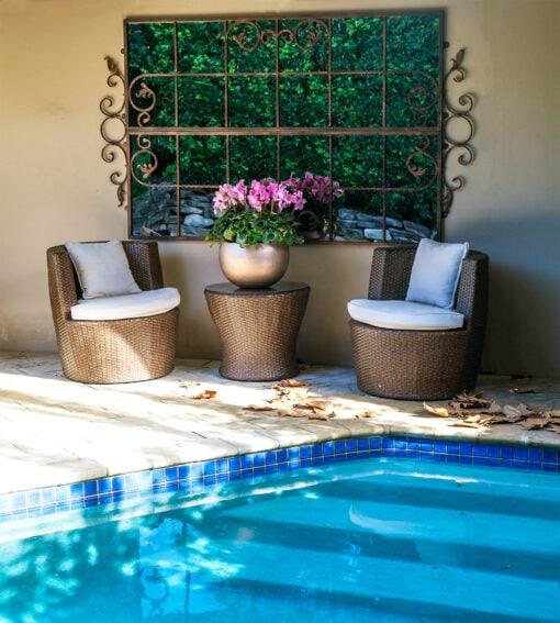 Mirror outdoor garden SG design Sydney