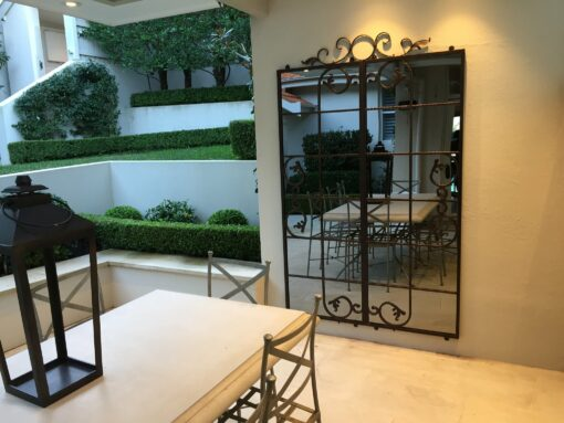 Outdoor Mirror Scrolled Gate