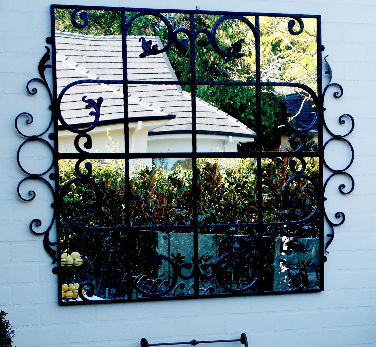 Scrolled Gate Outdoor Mirror Outdoor Mirrors