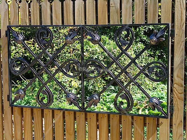 Two Tile Design Iron Mirror Outdoor Mirrors