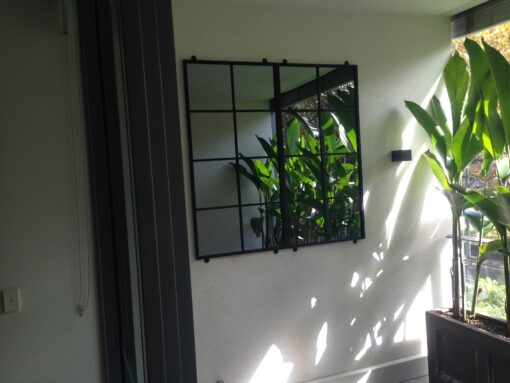 Outdoor mirrors set 2 8Sq on balcony 1