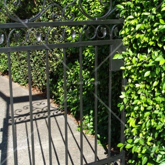 Simple wrought iron gate