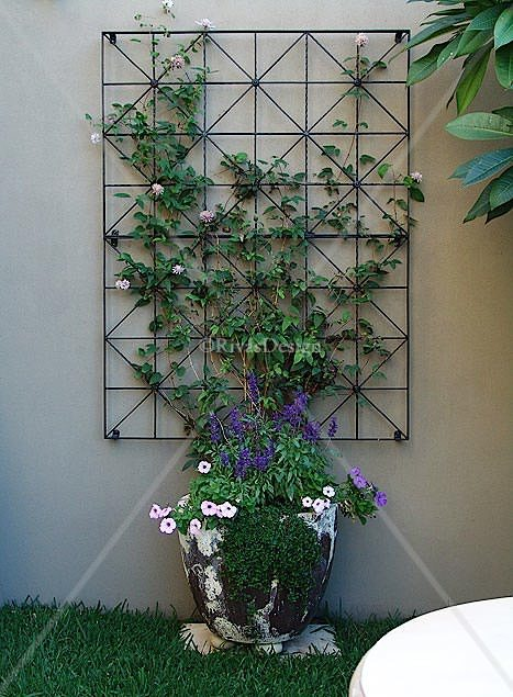 Diamonds Amp Squares Trellis Outdoor Wall Art