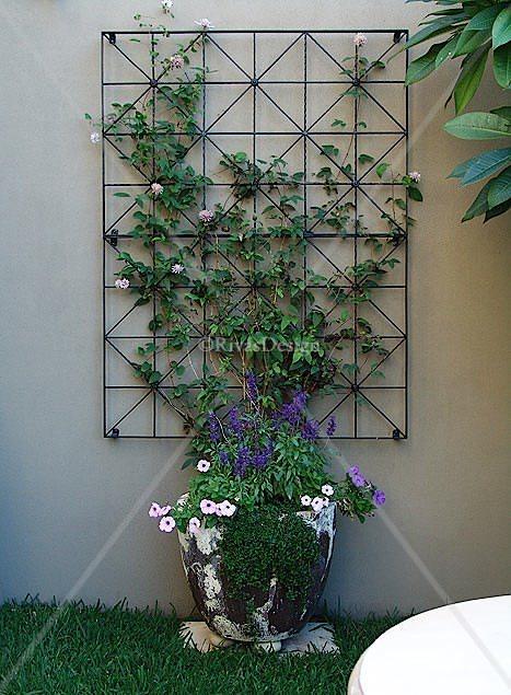 Diamonds Amp Squares Trellis Outdoor Wall Art