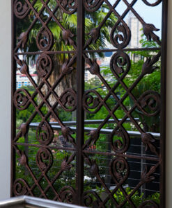 Wrought Iron outdoor mirrors set of 2