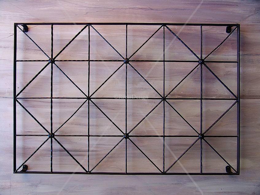 Wrought Iron Wall Trellis: Diamonds & Squares Trellis