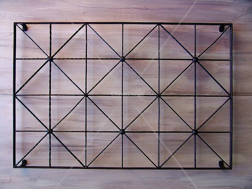 Diamonds squares Trellis Outdoor Wall Art