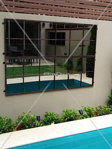 12 Square Garden Mirror Outdoor Mirrors