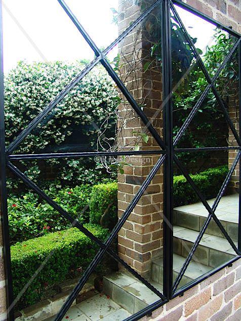 Double Cross Garden Mirror Outdoor Mirrors