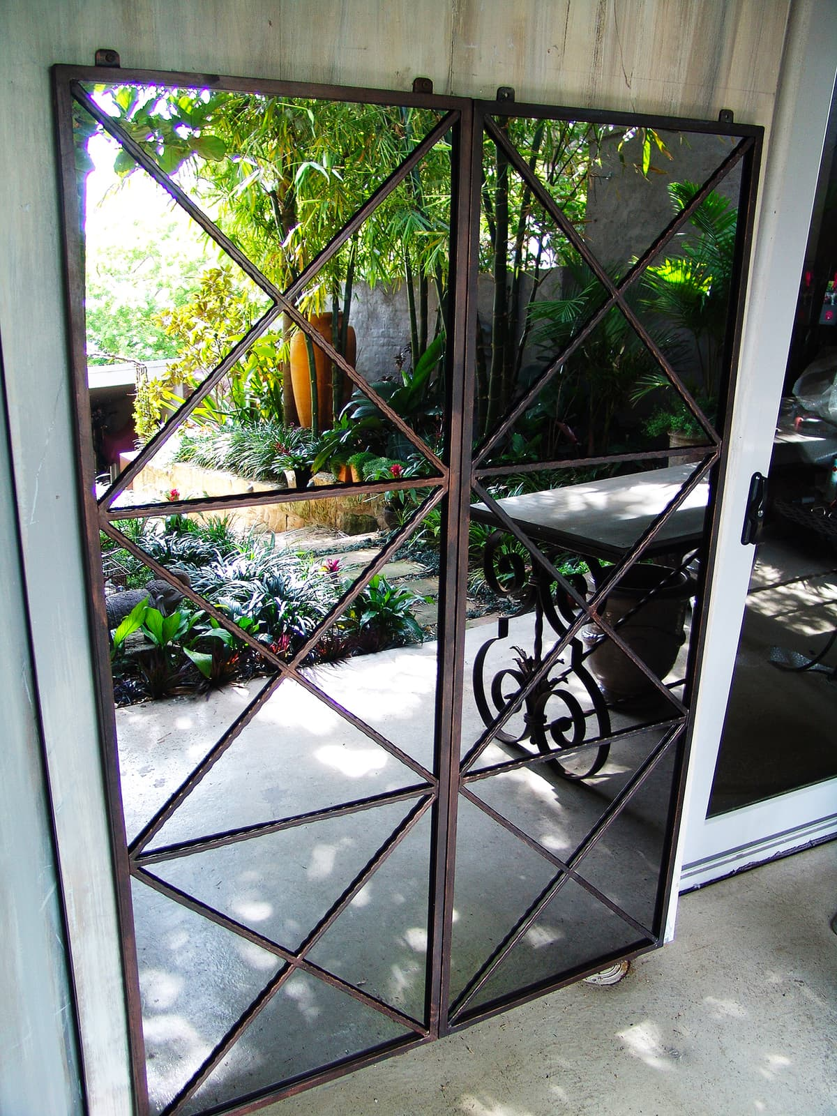outdoor mirrors garden