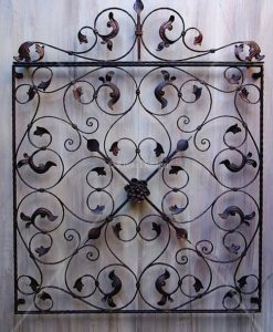 Decorative iron wall panels