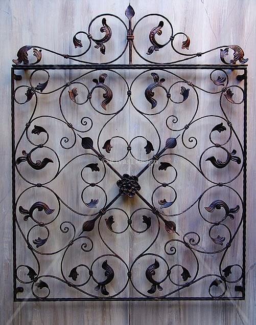 Decorative iron wall panels