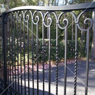 Custom made iron driveway gates