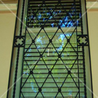 Custom designed window grill