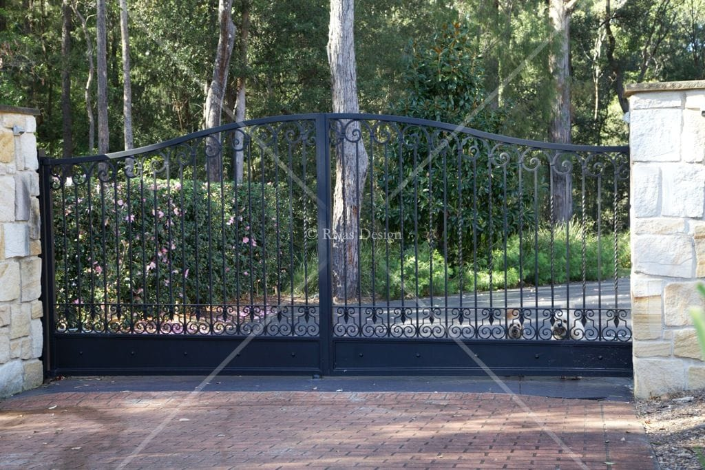Gate opener wrought iron driveway gates for Aluminum gates for driveways