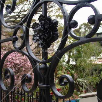 Wrought Iron Outdoor Screen