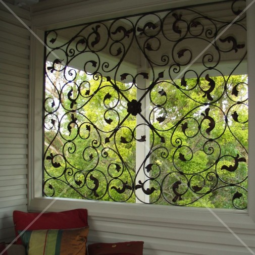 wrought iron screen