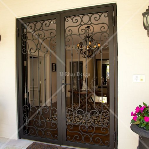 Set wrought Iron Security Doors