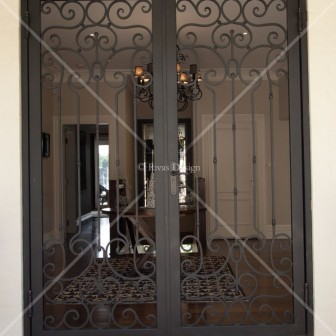 Wrought Iron Door Set