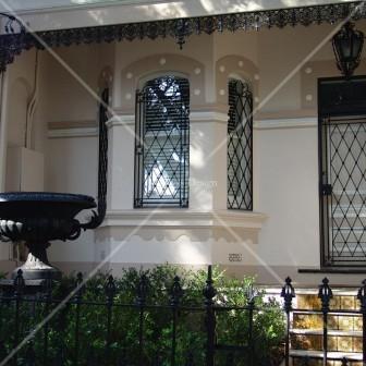 Set of wrought iron window grills