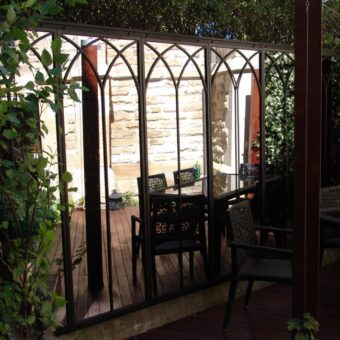 Arched Mirror Set in garden