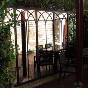 Arched Mirror Set in garden