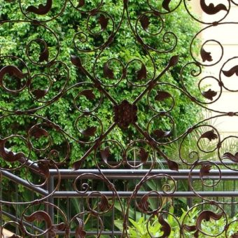 Wrought Iron Trellis Screen