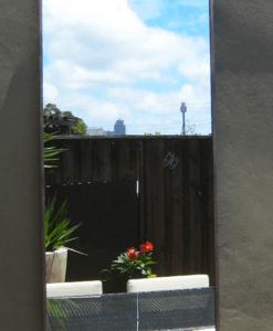 Contemporary outdoor mirror