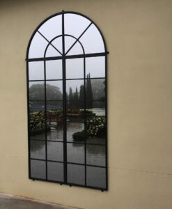 Wrought iron mirror idel for outdoors
