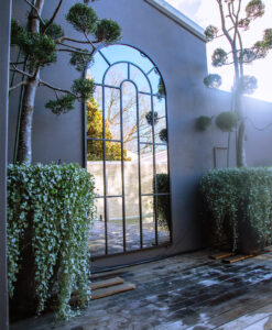 large iron outdoor mirror Arch Top Sydney 5 Fotor