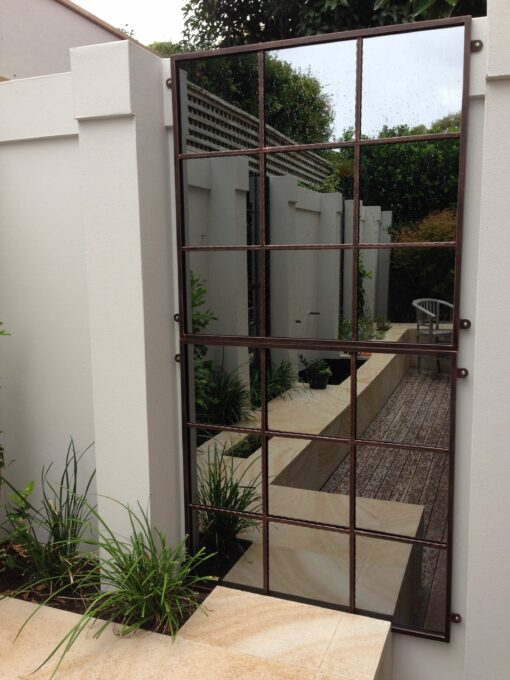 outdoor mirrors in landscape design