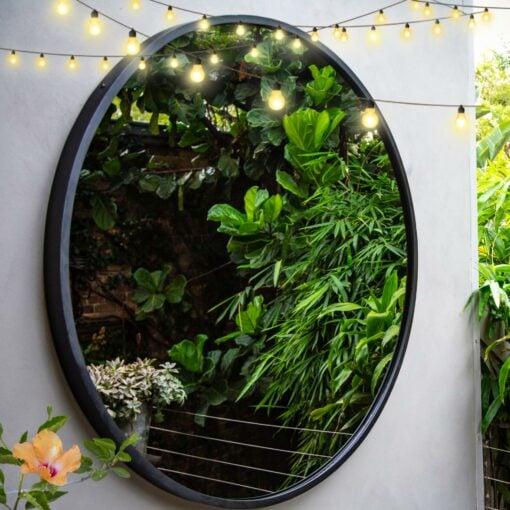 RivasDesign1200mm Contemporary garden mirror hibiscus featured